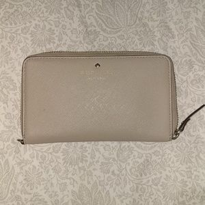 kate spade Beige Wallet with Pokadot inside